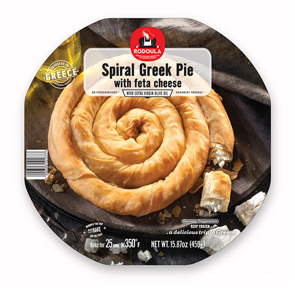 Spiral Greek Pie with Feta Cheese 450gr