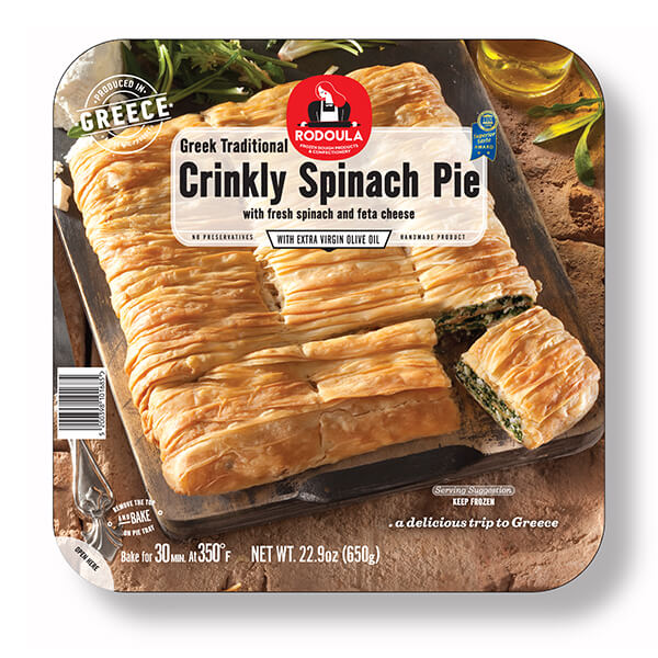 Greek Traditional Crinkly Spinach Cheese Pie