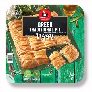Greek Traditional Pie Vegan with Spinach & Cheese Substitute