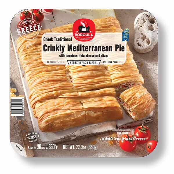 Greek Traditional Crinkly Mediterranean Pie