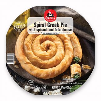 Spiral Greek Pie with Spinach & Feta Cheese 450gr